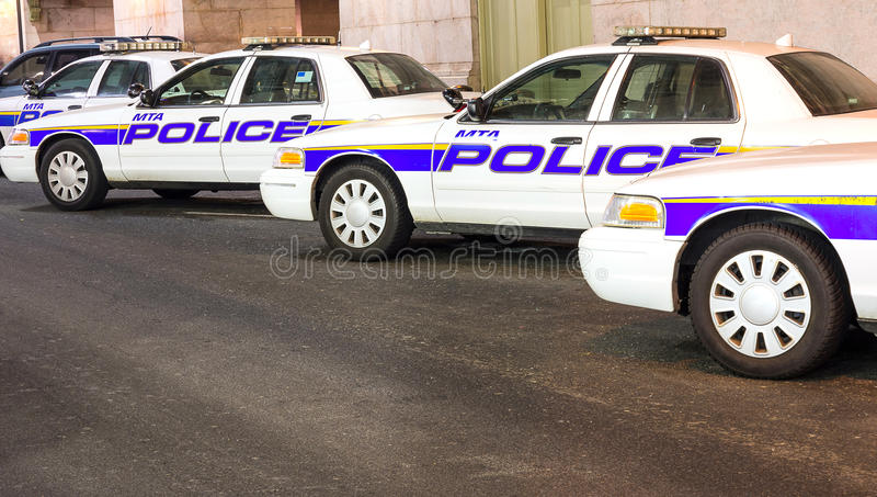 Nowy Jork samochody policyjni z rzędu zdjęcie stock