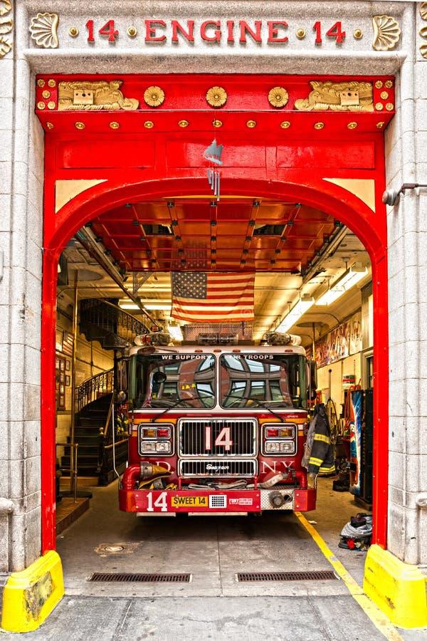 Nowy Jork Silnik Pożarniczy Wydziałowy 14. obrazy stock