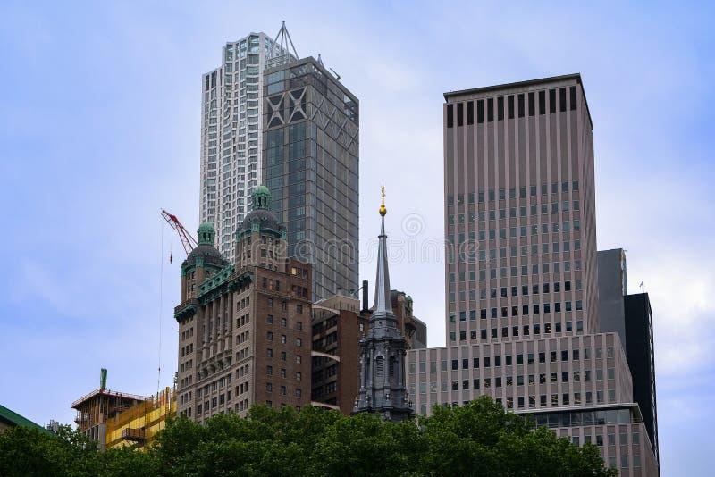 Nowy Jork - St Paul ` s trójca kościół Wall Street kaplica zdjęcia stock