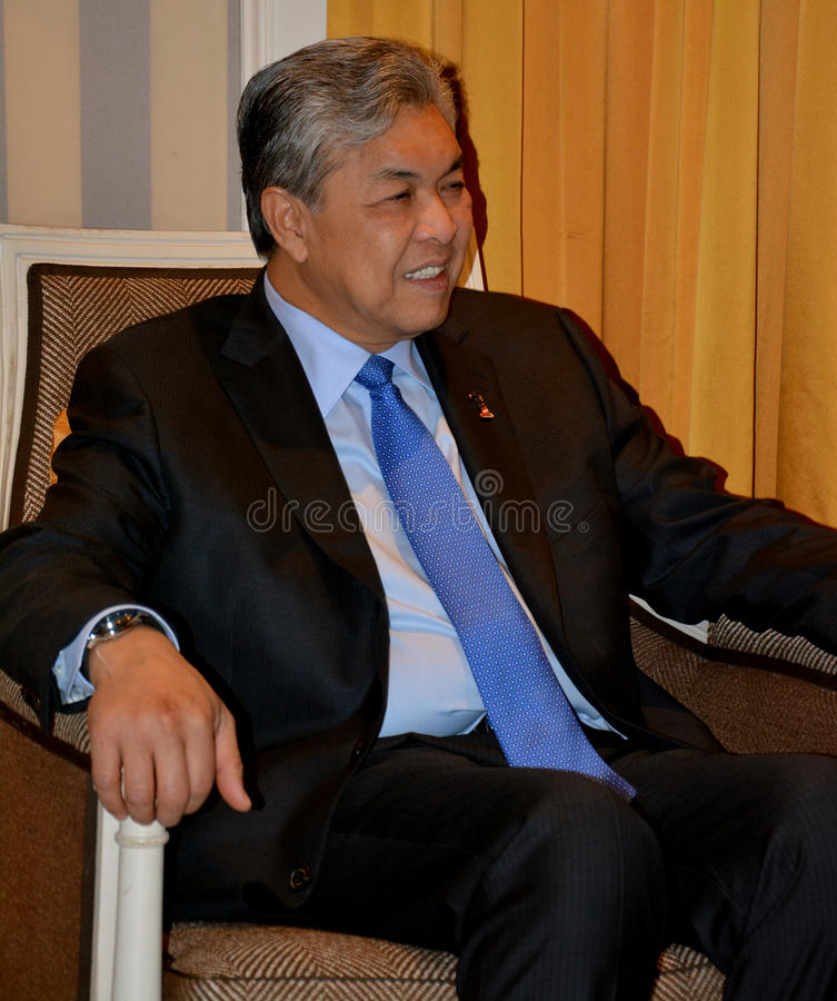 NOWY JORK STANY ZJEDNOCZONE, SIERPIEŃ, - 24TH, 2016 Ahmad Zahid Hamidi, zastępca ministra Malezja zdjęcie stock