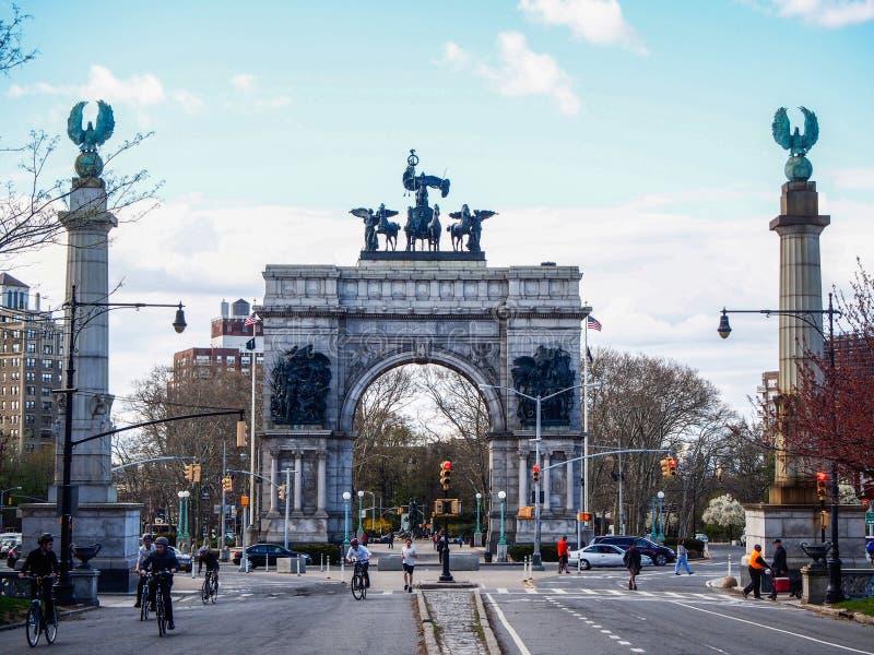 NOWY JORK, STANY ZJEDNOCZONE - Uroczysty wojsko plac w Nowy Jork obrazy stock