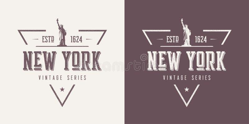 Nowy Jork textured rocznik odzieży i koszulki wektorowego projekt, typ ilustracja wektor