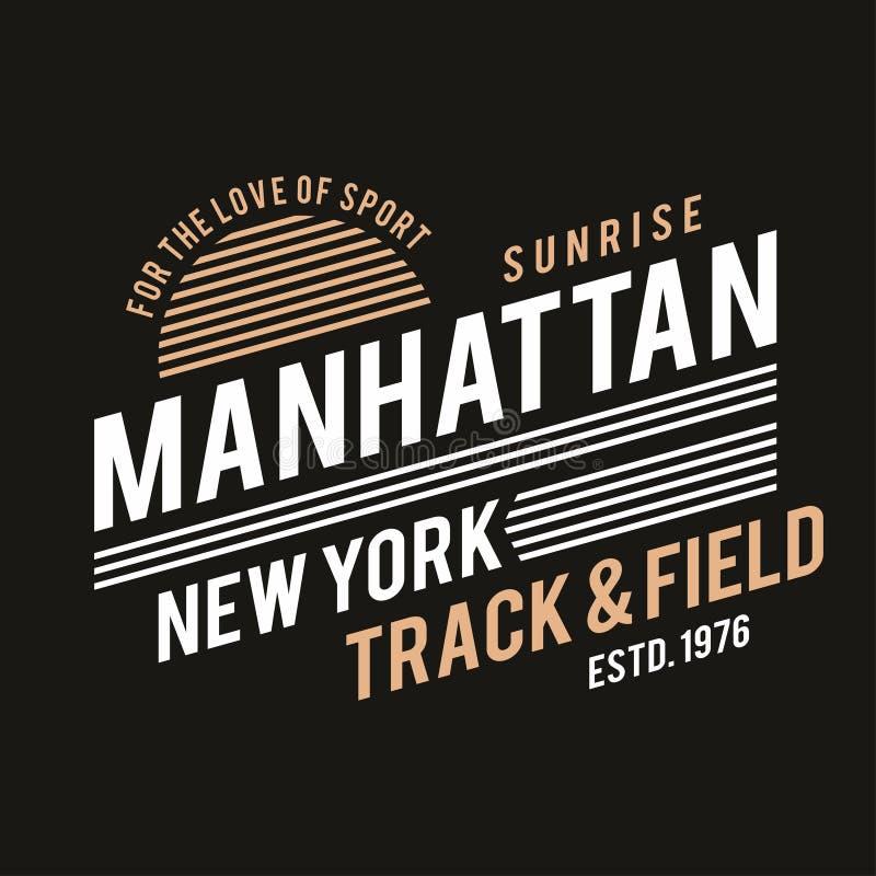 Nowy Jork typografia dla koszulka druku Zawody atletyczni, sportowe koszulek grafika ilustracja wektor