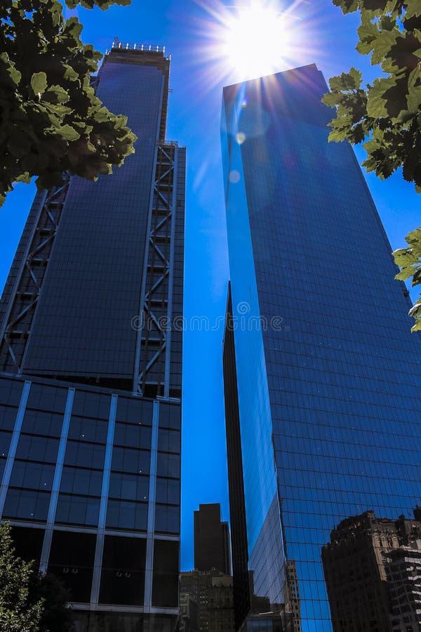 Nowy Jork, usa; Czerwiec 20, 2017; One World Trade Center lokalizował w pieniężnym okręgu obraz stock