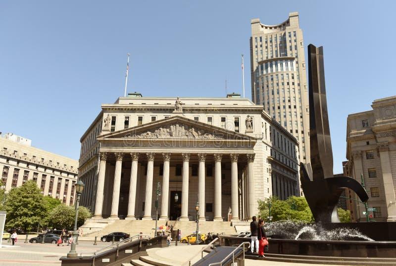 Nowy Jork, usa - Maj 24, 2018: Nowy Jork okręgu administracyjnego sąd najwyższy i fotografia stock