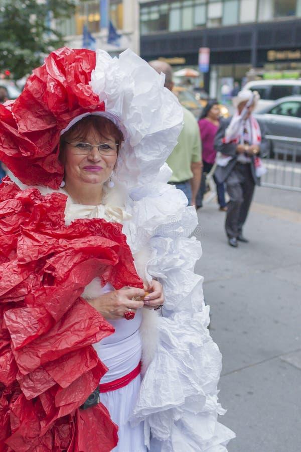 Nowy Jork usa, Październik, 6: Korowód Polscy ludzie na S obraz royalty free