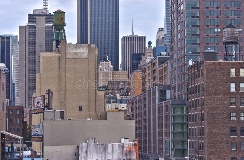 Nowy Jork, usa - Październik, 9: Miasto Nowy Jork panorama Przeglądać od I zdjęcie royalty free