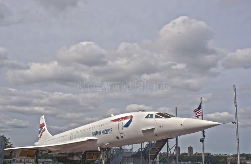 Nowy Jork, usa - Październik 10: Naddźwiękowa Pasażerska Samolotowa zgoda obraz royalty free