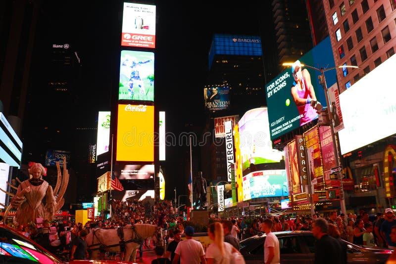 NOWY JORK, usa - Sierpień 31, 2018: Nowy Jork miasta ulicy, Broadway, times square zdjęcia royalty free