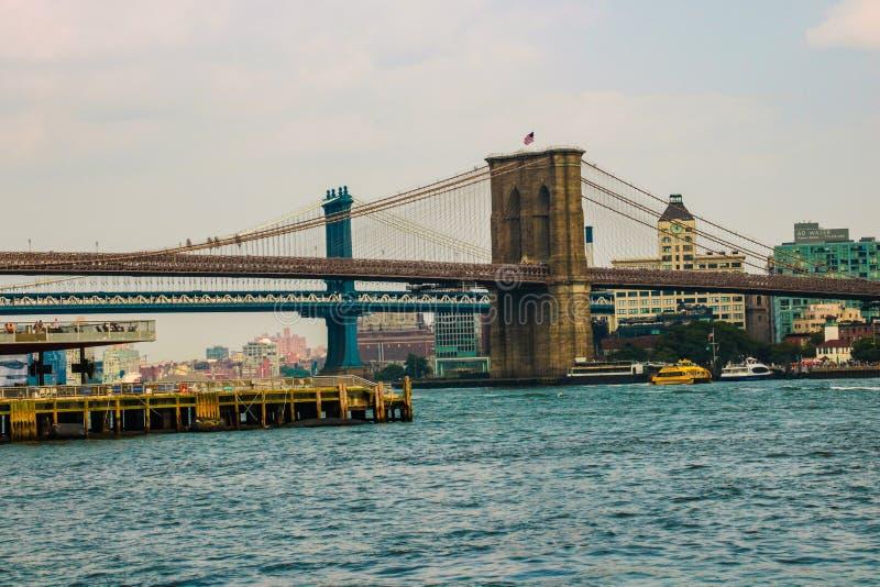 Nowy Jork, usa - Wrzesień 2, 2018: Most Brooklyński w Miasto Nowy Jork, usa fotografia royalty free