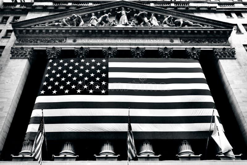 Nowy Jork Wall Street giełda papierów wartościowych obraz royalty free