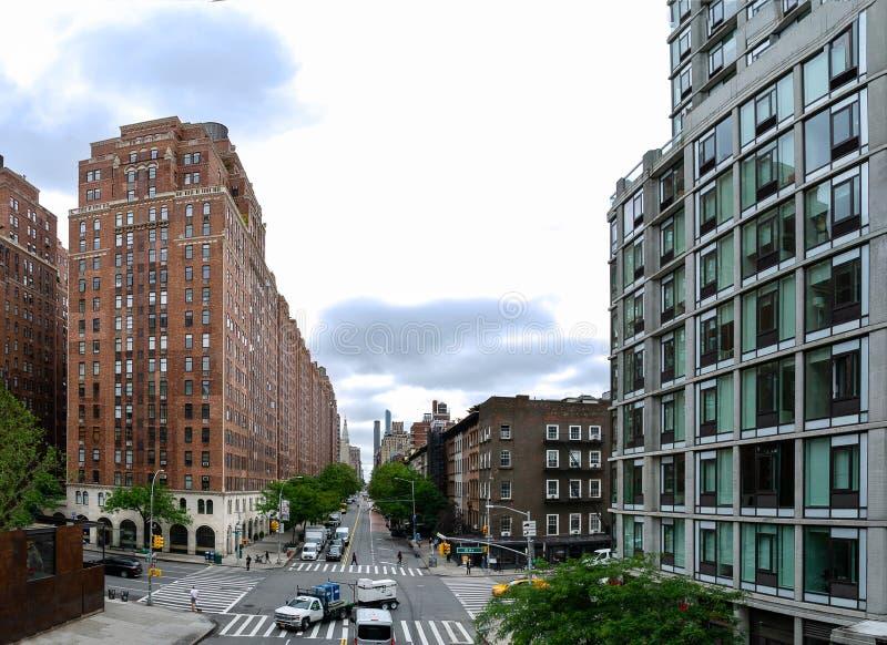 Nowy Jork - widok od Wysokiej linii zdjęcia royalty free