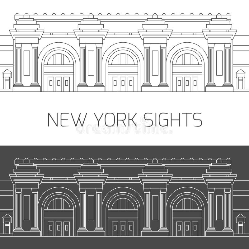 Nowy Jork widoki Wielkomiejski muzeum sztuki royalty ilustracja