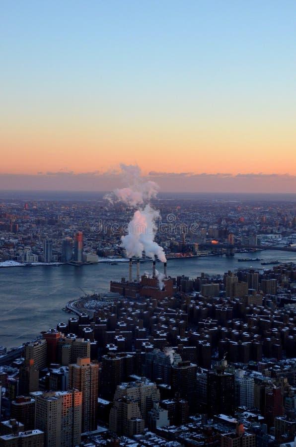 Nowy Jork z białymi dachami obraz stock