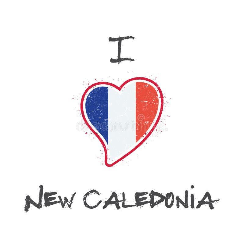 Nowy Kaledoński chorągwiany patriotyczny koszulka projekt ilustracja wektor