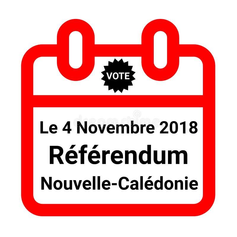 Nowy Kaledoński niezależności referendum, 2018 w francuskim ilustracji