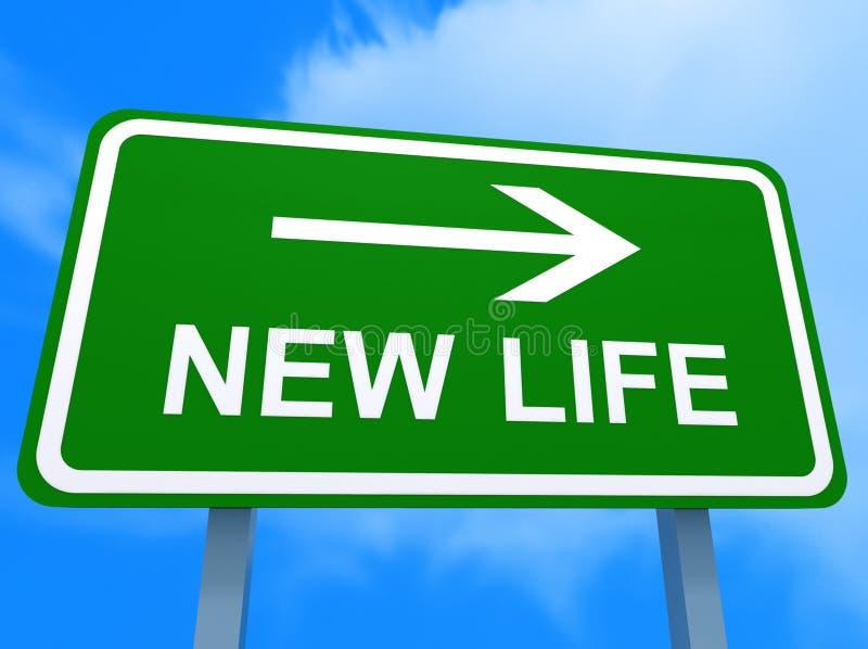 nowy kierunku życie ilustracja wektor