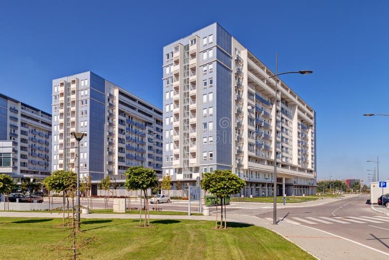 Nowy kompleks budynki mieszkalni fotografia royalty free