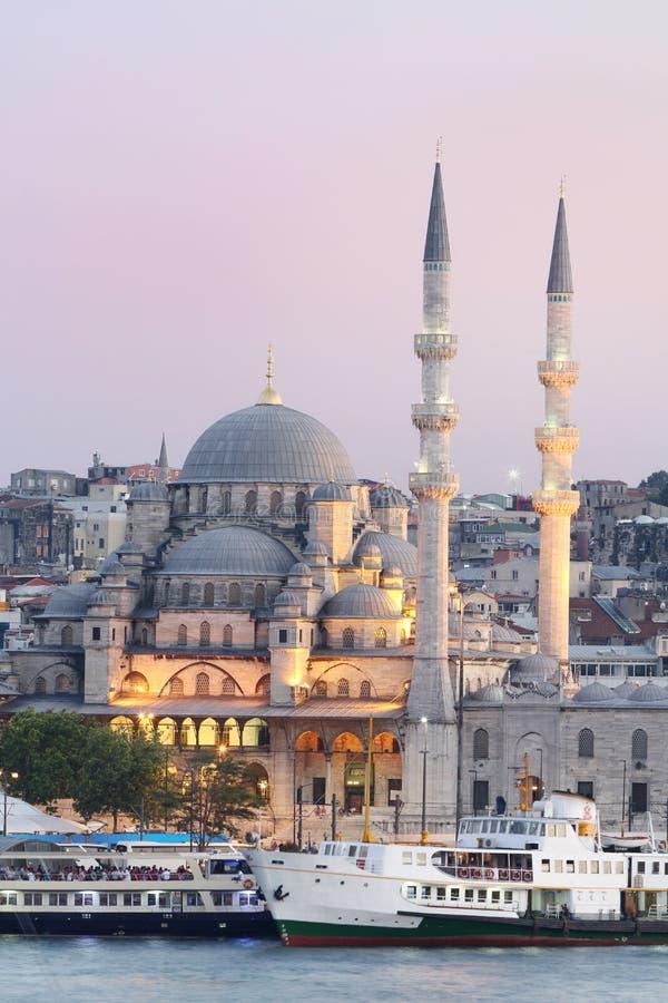 Nowy meczet w Istanbuł, Turcja. obraz stock