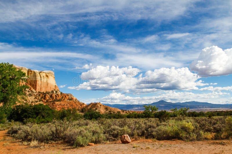 Nowy - Mexico linia horyzontu fotografia stock
