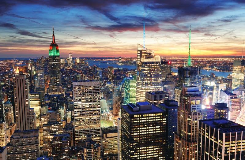 nowy miasto zmierzch York obrazy royalty free