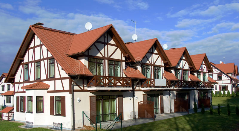 nowy mieszkanie własnościowe rząd zdjęcie stock