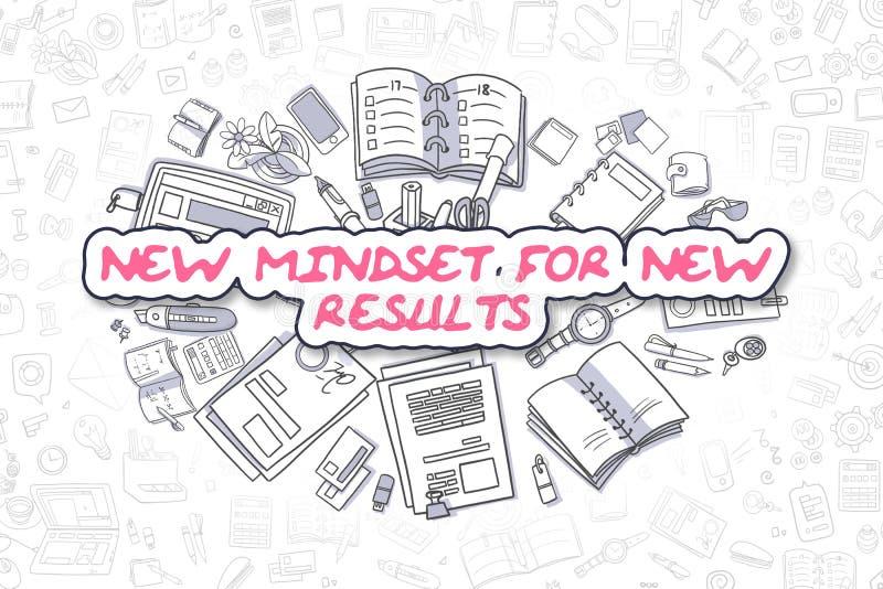 Nowy Mindset Dla Nowych rezultatów - Biznesowy pojęcie ilustracji