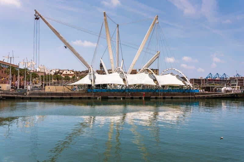 Nowy nabrzeże Stary port i akwarium Ten część projektował Włoskim architektem Renzo Piano fotografia royalty free