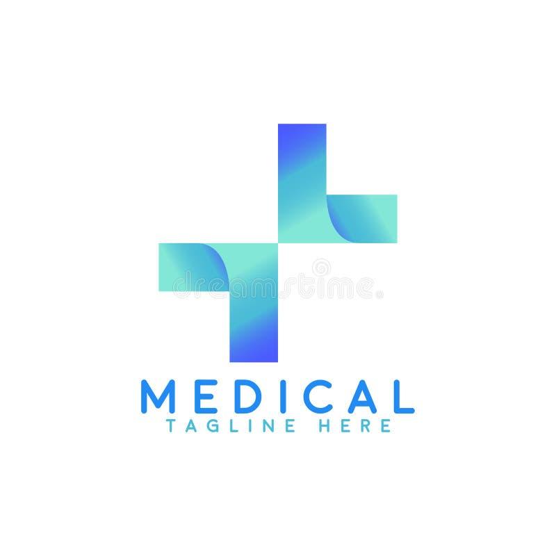 Nowy nowożytny medyczny logo royalty ilustracja