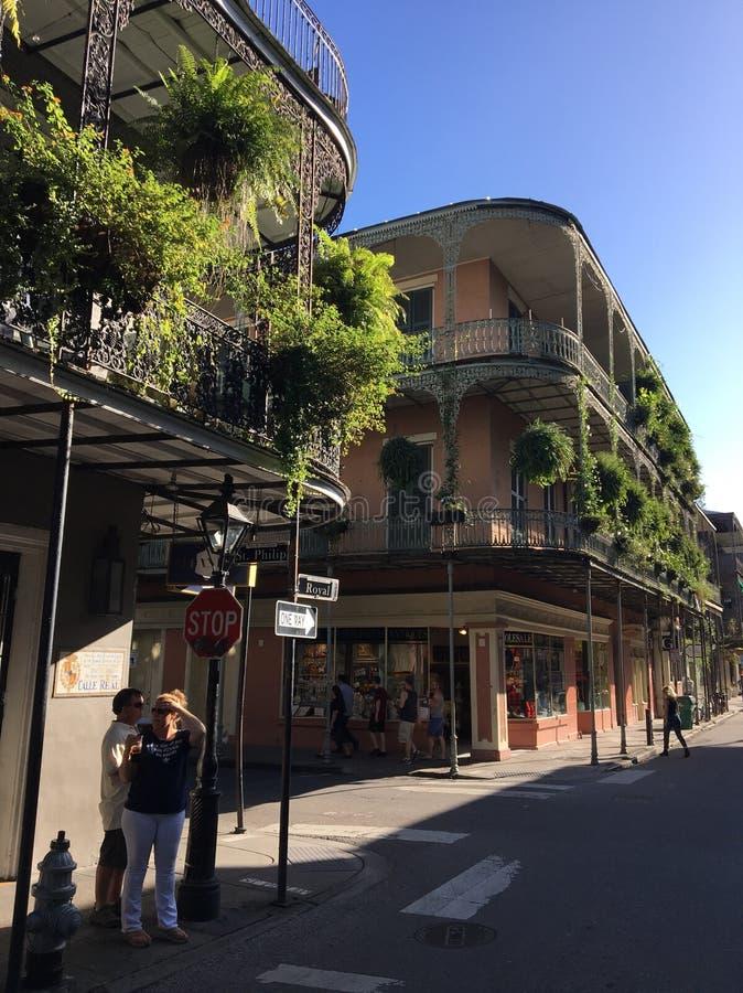 Nowy Orlean dzielnicy francuskiej ulicy scena zdjęcie stock