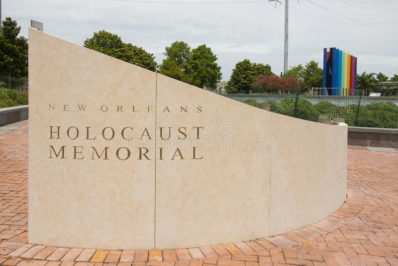 Nowy Orlean holokausta pomnik obrazy stock