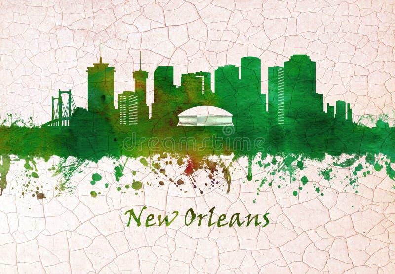 Nowy Orlean Luizjana linia horyzontu ilustracja wektor
