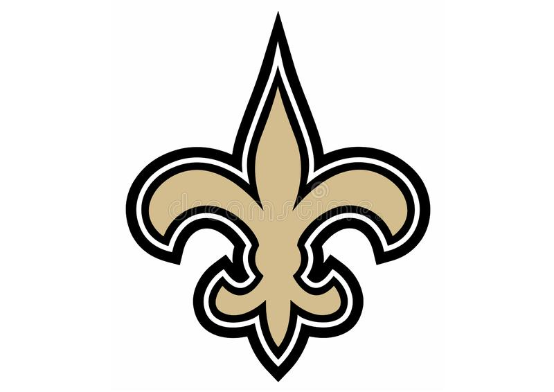 Nowy Orlean Saints logo royalty ilustracja