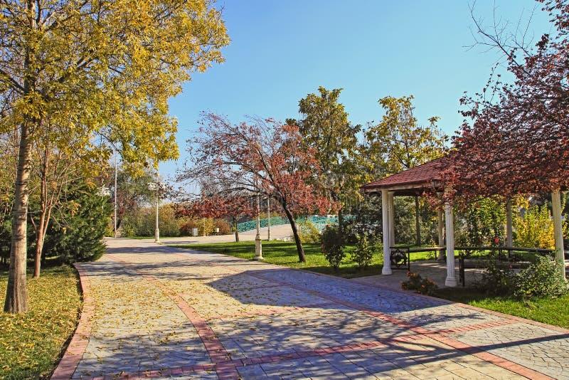 Nowy park w górach Ashkhabad Turkmenistan zdjęcie royalty free