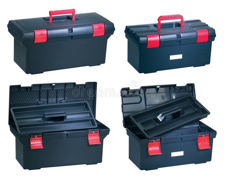 nowy plastikowy toolbox obrazy royalty free