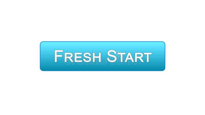 Nowy początek sieci interfejsu guzika błękitny kolor, biznesowa innowacja, miejsce projekt ilustracji
