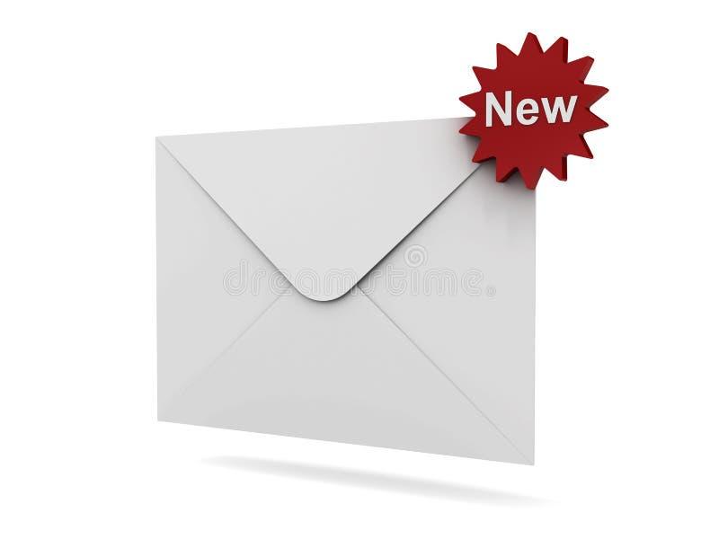 nowy pojęcie e-mail royalty ilustracja
