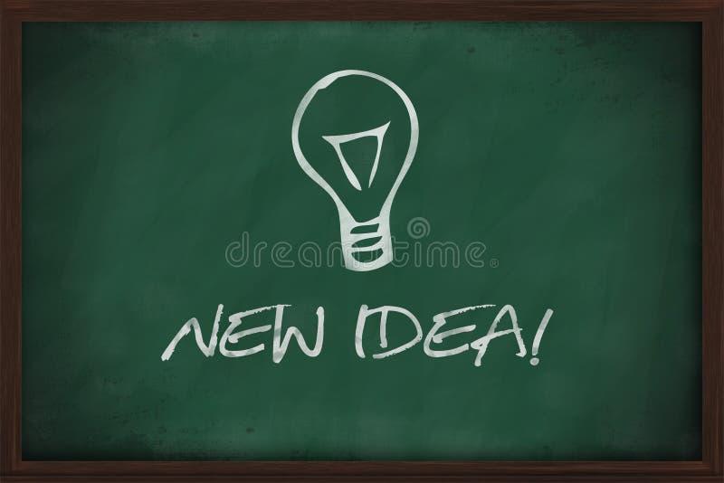 Nowy pomysłu lightbulb blackboard ilustracji