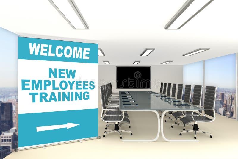 Nowy pracownika szkolenia pojęcie ilustracja wektor