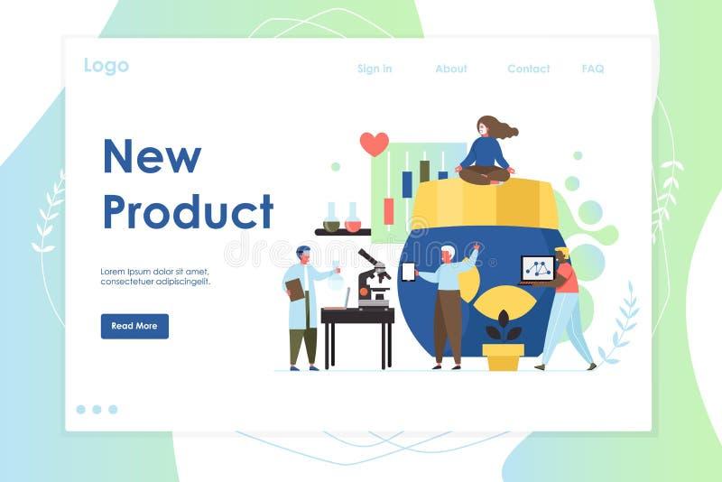 Nowy produkt strony internetowej l?dowania strony projekta wektorowy szablon royalty ilustracja