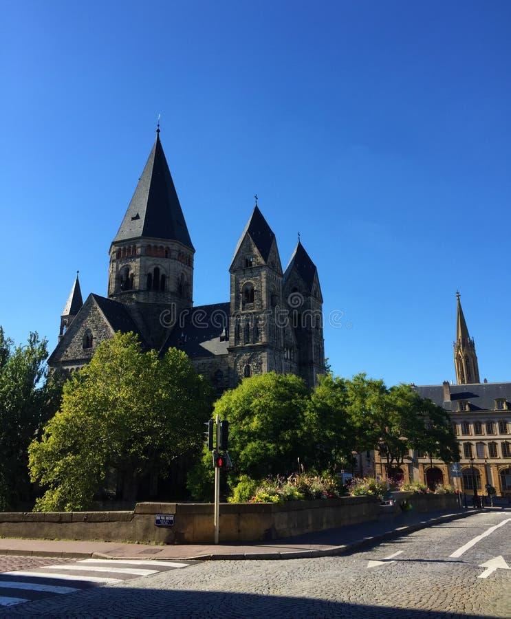 Nowy Protestancki Świątynny Metz Francja zdjęcie stock