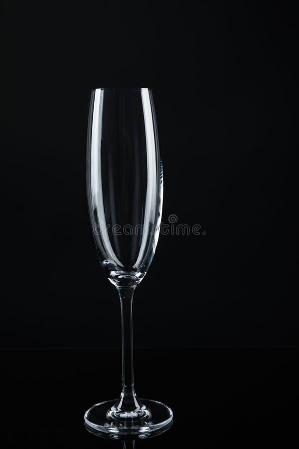 Nowy pusty szampański szkło zdjęcia stock