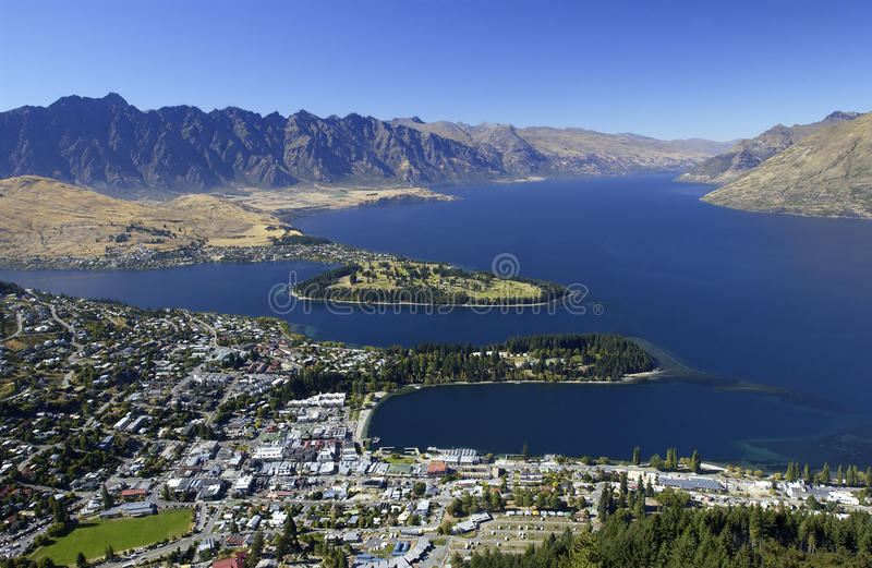 nowy Queenstown Zealand obraz royalty free