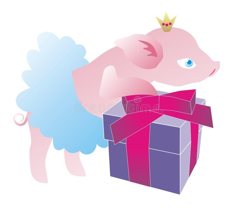 Nowy rok 2019 Nowy Rok świnia zdjęcia stock