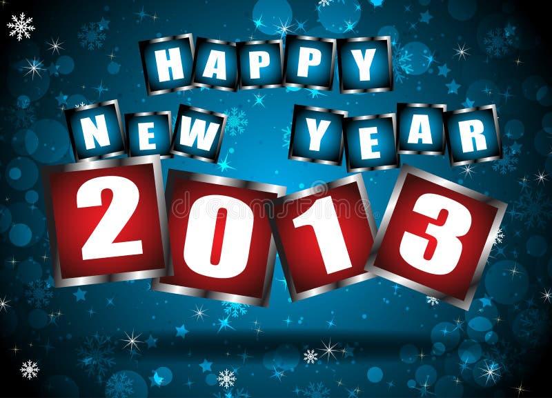 Nowy rok 2013 w błękitnym tle royalty ilustracja