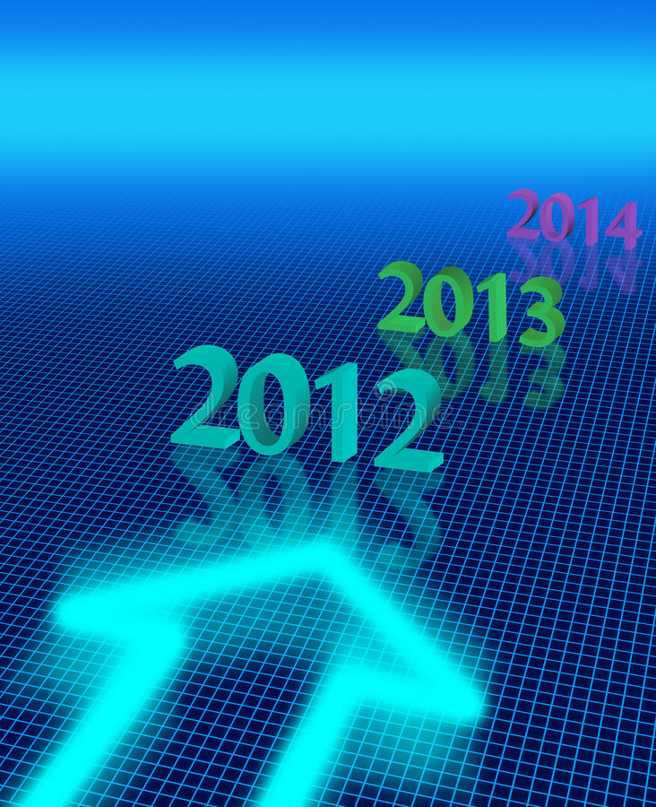 Download Nowy rok ilustracji. Obraz złożonej z griddle, teraźniejszość - 23314023