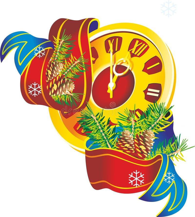 Nowy rok ilustracja wektor