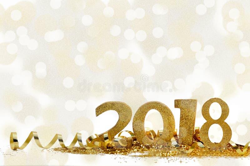 Nowy rok 2018 obrazy stock