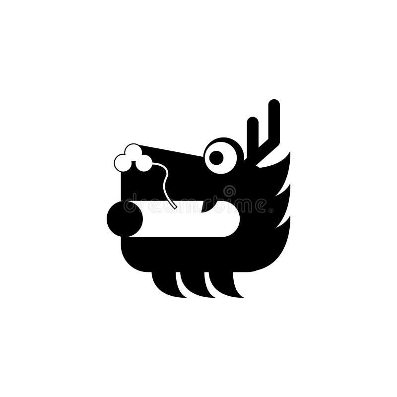 Nowy rok, Chiny, smok ikona może używać dla sieci, logo, mobilny app, UI, UX ilustracja wektor