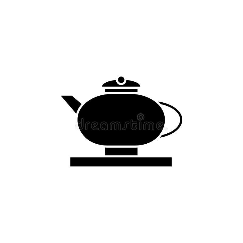 Nowy rok, Chiny, teapot, ikona może używać dla sieci, logo, mobilny app, UI, UX ilustracji
